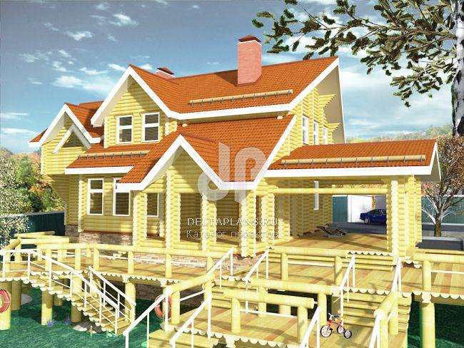 Проект деревянного дома A-275-1D