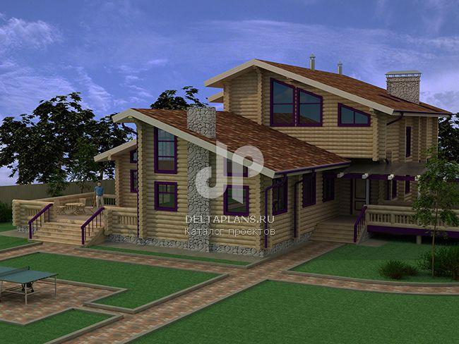 Проект деревянного дома A-281-1D