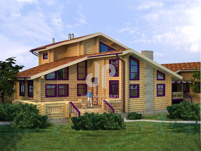 Проект деревянного дома A-294-1D