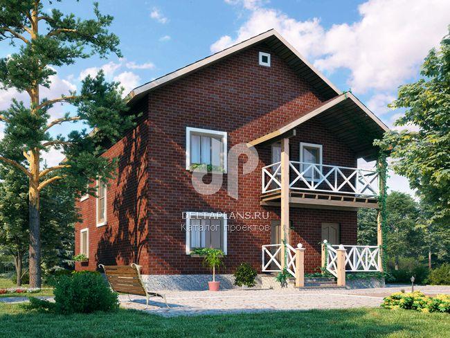 Проект пенобетонного дома p00589.