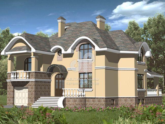 Проект кирпичного дома B-302-1K