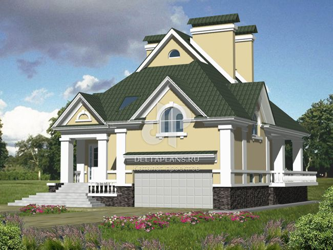 Проект кирпичного дома B-359-1K