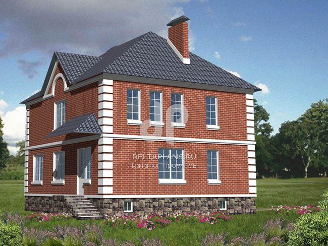 Проект кирпичного дома B-364-1K