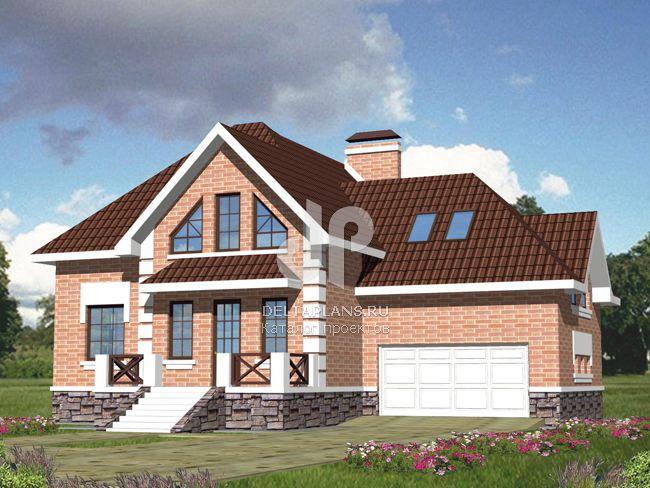 Проект кирпичного дома B-383-1K