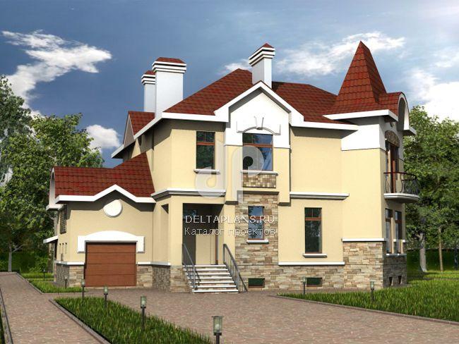 Проект кирпичного дома B-401-1K