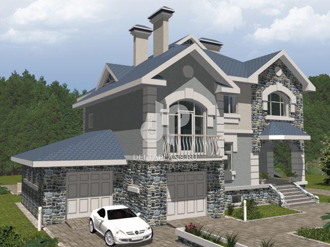 Проект кирпичного дома B-415-1K