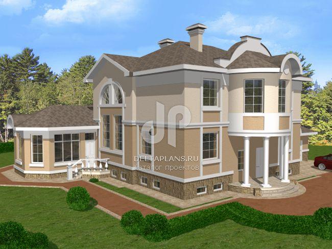 Проект кирпичного дома B-490-1K