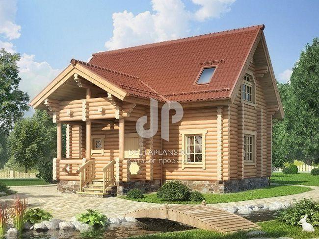 Проект деревянного дома № c 093 1d