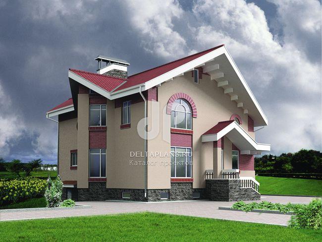 Проект кирпичного дома C-312-1K