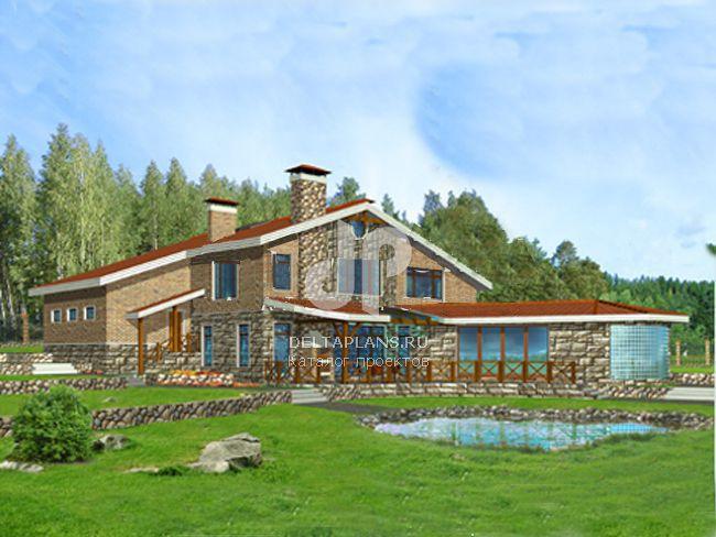 Проект кирпичного дома C-401-1K