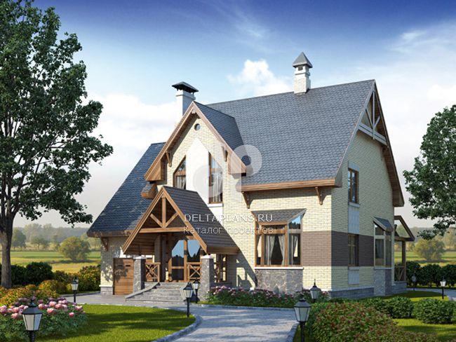 Проект пенобетонного дома D-253-1P