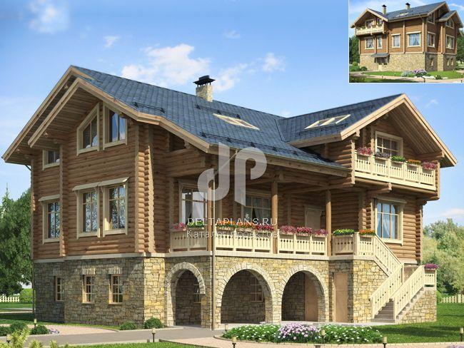 Проект деревянного дома D-400-1D