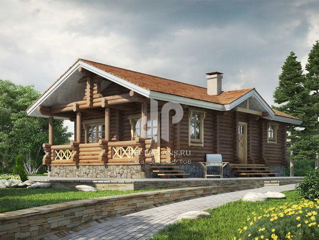 Проект деревянного узкого дома № e 069 1d