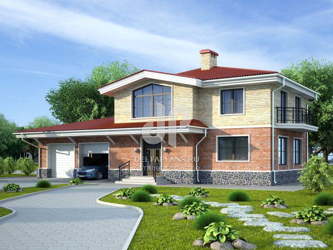 Проект кирпичного дома E-255-1K