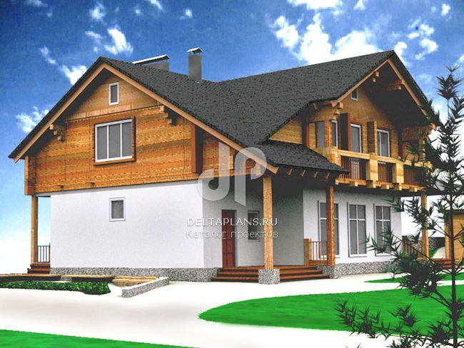 Проект кирпичного дома E-262-1K
