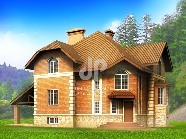 Проект кирпичного дома E-291-1K