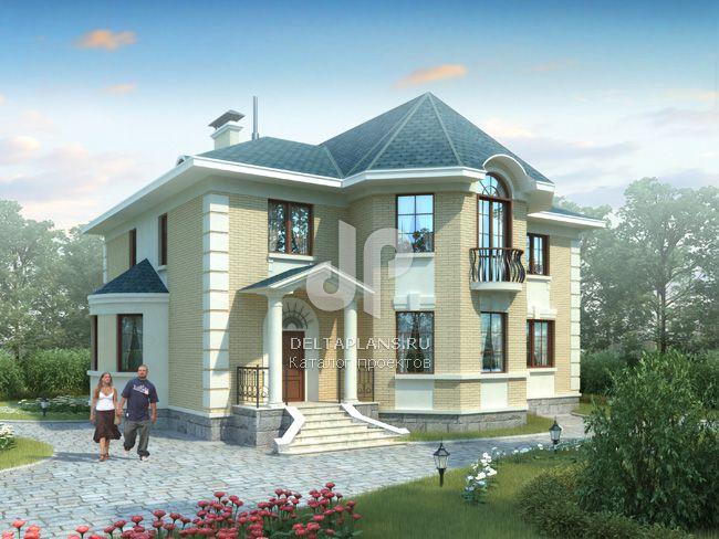 Проект кирпичного дома E-303-1K
