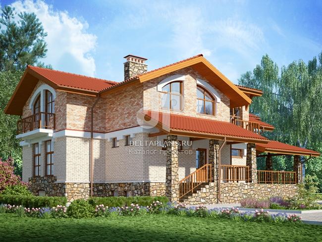 Проект кирпичного дома E-357-1K