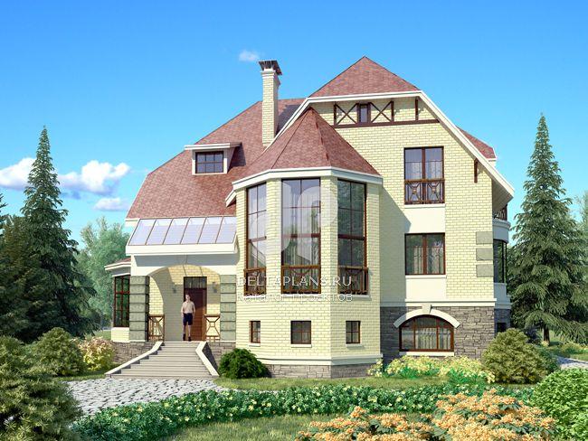 Проект кирпичного дома E-374-1K