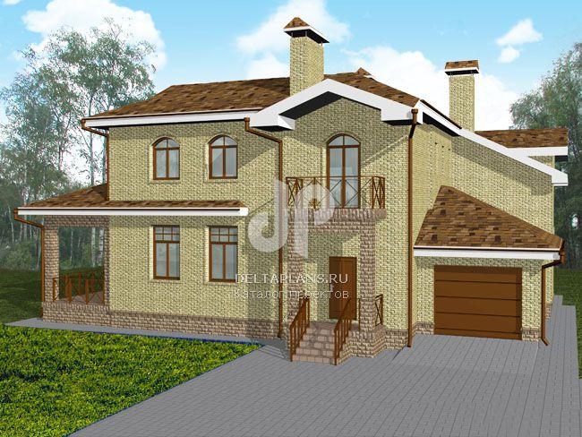 Проект кирпичного дома E-388-1K