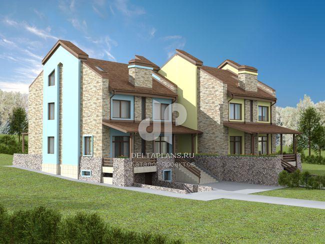 Проект кирпичного дома E-400-1K