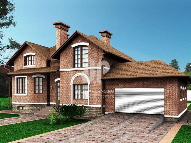 Проект кирпичного дома E-443-1K