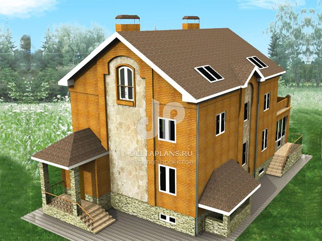 Проект кирпичного дома E-498-1K