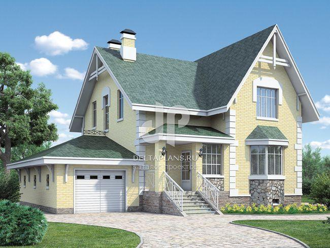 Проект пенобетонного дома H-253-1P