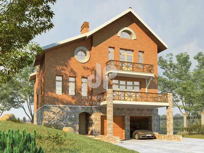 Проект кирпичного дома H-276-1K