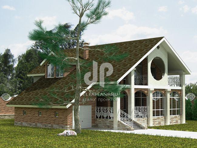 Проект пенобетонного дома H-329-1P