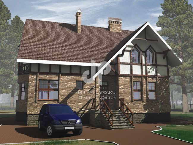 Проект кирпичного дома J-256-1K