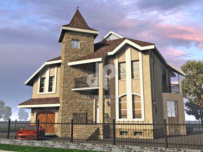 Проект кирпичного дома J-324-1K