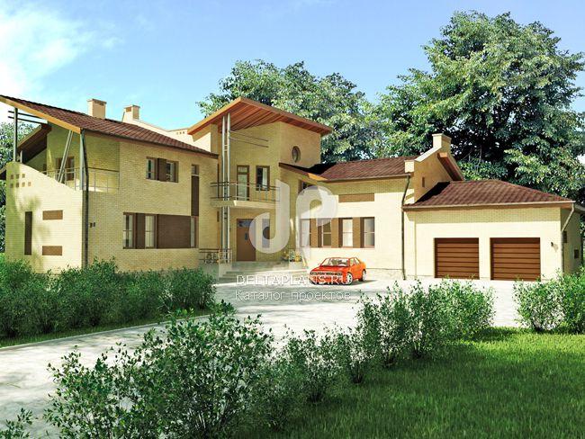Проект кирпичного дома J-374-1K