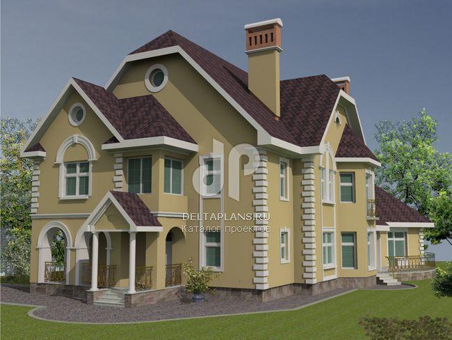Проект кирпичного дома J-407-1K
