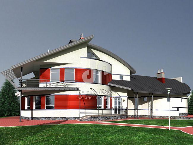 Проект кирпичного дома J-411-1K