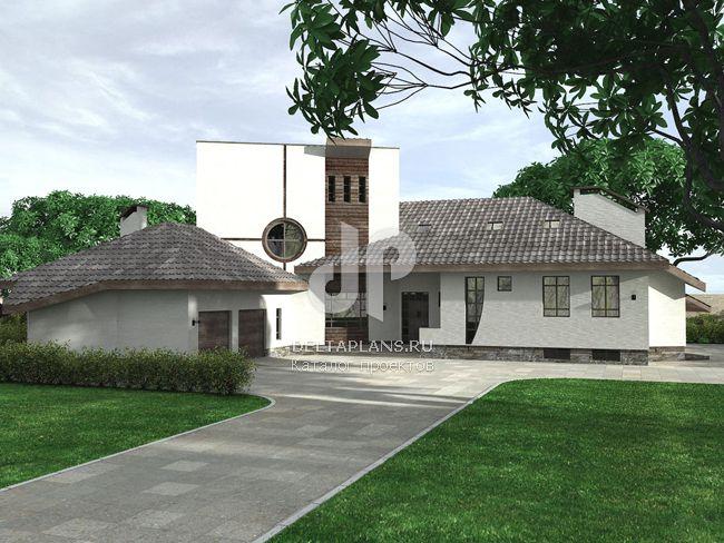 Проект кирпичного дома J-443-1K