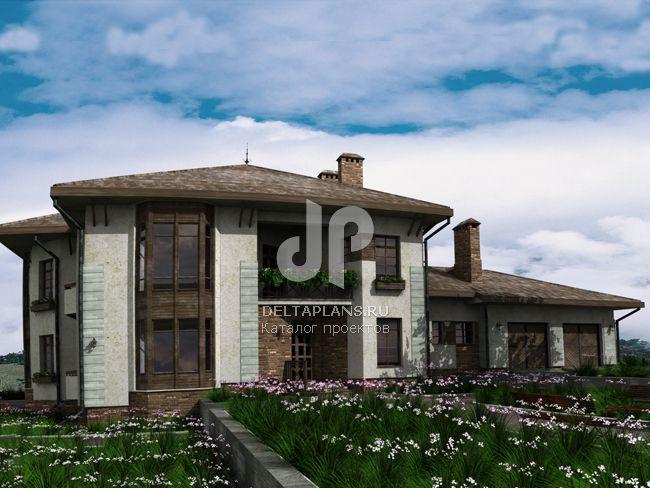 Проект кирпичного дома J-446-1K