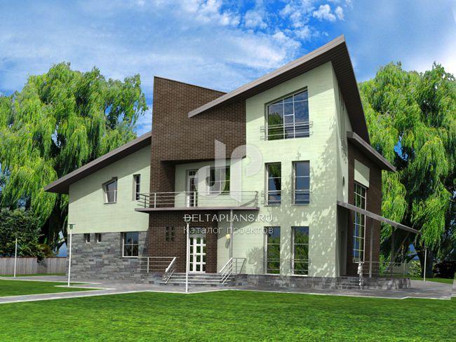 Проект кирпичного дома J-482-1K