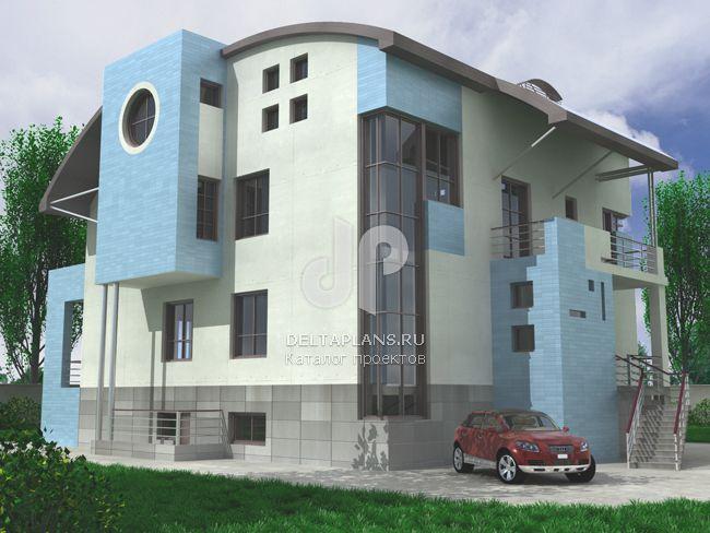 Проект кирпичного дома J-520-1K