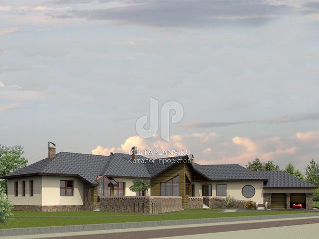 Проект кирпичного дома J-540-1K