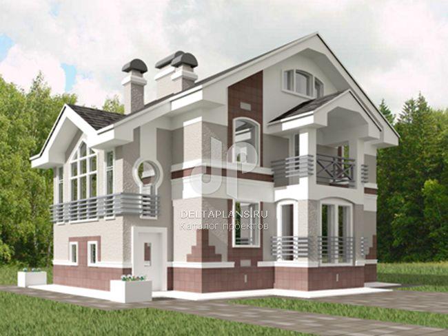 Проект пенобетонного дома K-252-1P