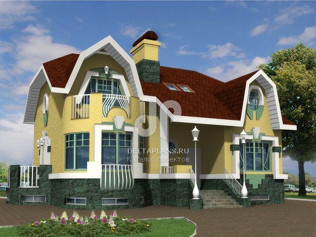Проект кирпичного дома K-261-1K