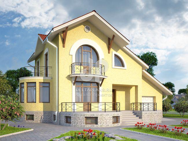 Проект пенобетонного дома K-285-1P
