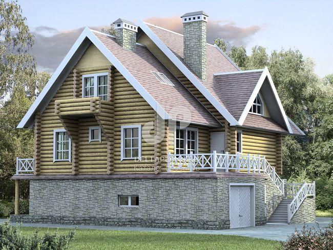 Проект деревянного дома K-304-1D