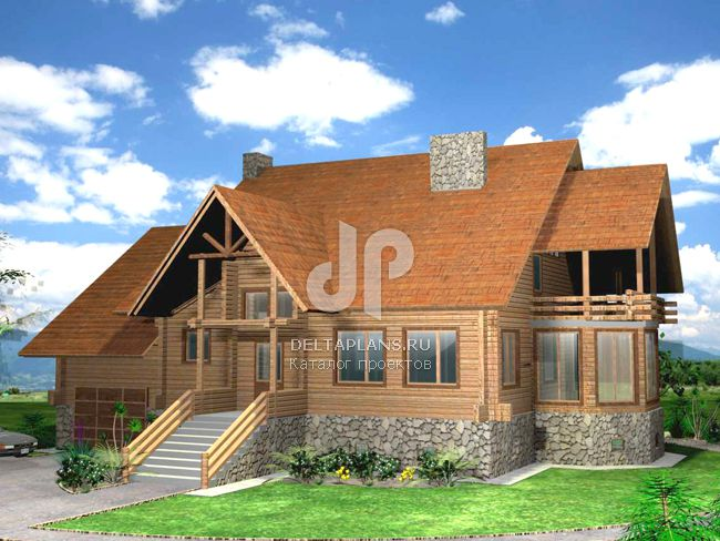 Проект деревянного дома K-342-1D