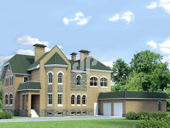 Проект кирпичного дома K-490-1K