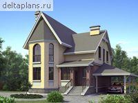 Этажный мансардный дом l 155 1k