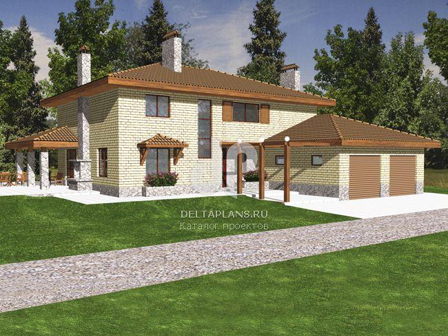 Проект кирпичного дома M-263-1K