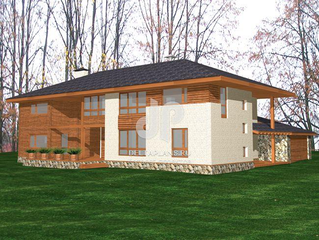 Проект пенобетонного дома M-274-1P