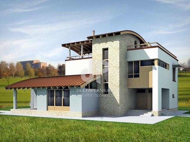 Проект кирпичного дома M-287-1K
